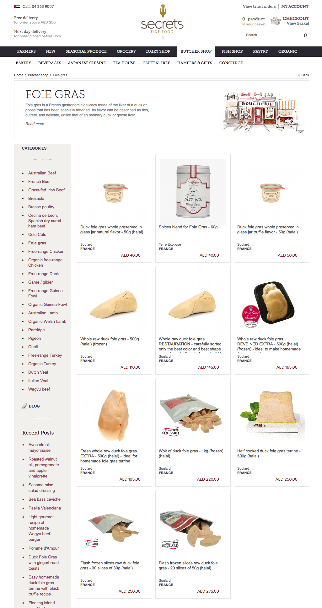 online shopping foie gras in Abu Dhabi